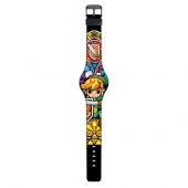 Reloj, The, Legend, Of, Zelda, Stained, Glass, Print, LED, watch, Legend Of Zelda, TLOZ, Link,
