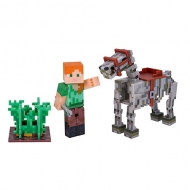 Figura Minecraft Alex W/Skeleton Horse Pack
