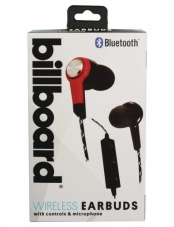 Audífonos In Ear Bluetooth MG507 Negro/Rojo Billboard