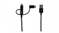 Cable 3 En 1 IPH AND USB-C Negro Philips