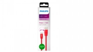 Cable TYPE-C 1.2M Goma Rojo Philips