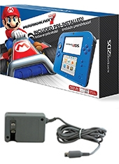 Consola Nintendo 2DS Electric Blue + Mario Kart 7 + Adaptador AC