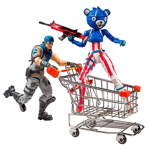 Figura Fortnite Shopping Cart Pack With War Paint Fireworks