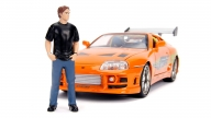 Figura Hollywood Rides Fast And Furious Toyota With Brian 1/24 Metals Die Cast