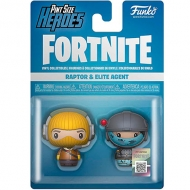 Figura Pint Size Heroes Fortnite Raptor And Elite Agent