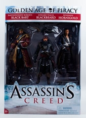 Pack 3 Figuras Edad de Oro de la Piratería Assassins Creed