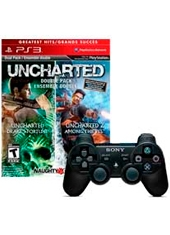 Gamer Kit Uncharted Dual Pack + Control Dualshock 3