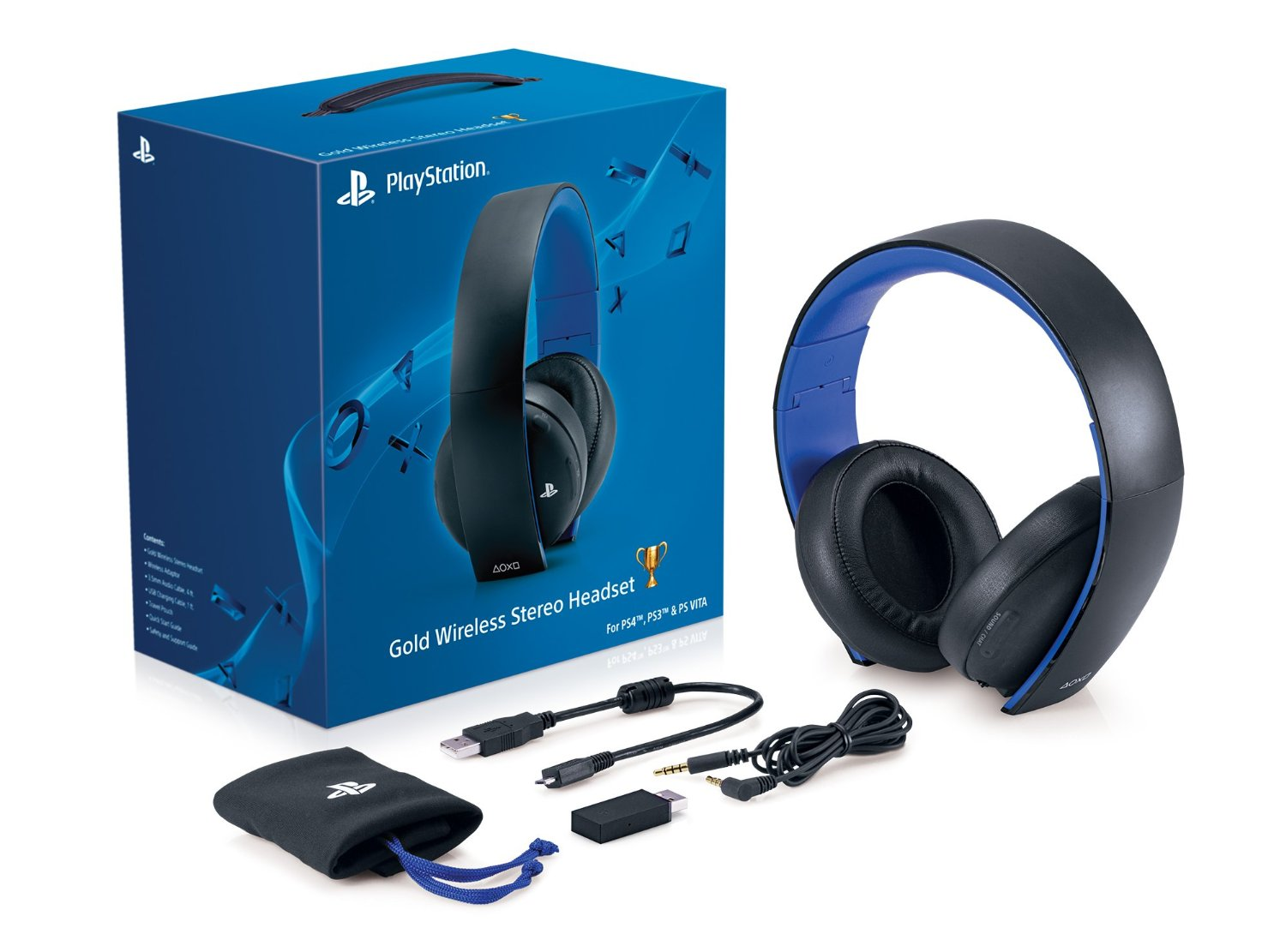 Ps4 Headset Gold Gold Wireless Stereo H...