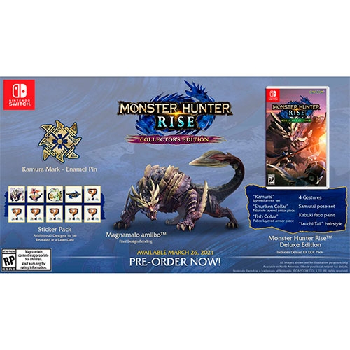 Monster Hunter Rise Collectors Edition Switch