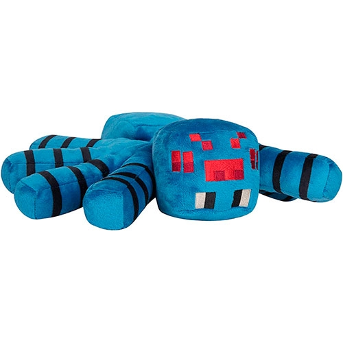 Peluche Minecraft Adventure Cave Spider Blue