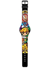 Reloj The Legend Of Zelda Stained Glass Print LED