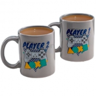 Tazón Playstation Player One And Player Two Mug Set