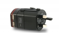 Adaptador World Travel 2 Usb 100-240V  Negro Microlab