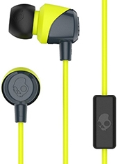 Audífonos In Ear JIB con Micrófono Gray / Hot Lime Skullcandy