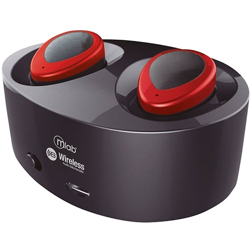 Audífonos In Ear Bluetooth Free Twins Sport Pro Red Microlab