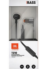 Audifono In Ear Flat T210 Negro JBL