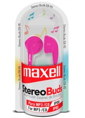 Audífonos StereoBuds EB-95 Pink Maxell