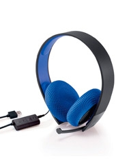 Audífonos Silver Wired Stereo Blue PS4