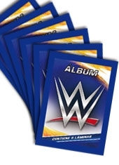 Blister 10 sobres álbum WWE