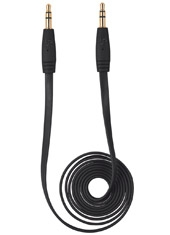 Cable Audio Flat 3.5 1mt Negro Trust Urban