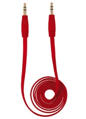Cable Audio Flat 3.5 1mt Rojo Trust Urban