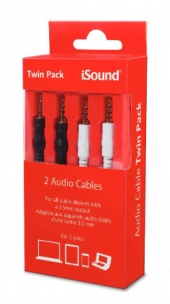 Cable Audio Twin Pack iSOUND - 6378