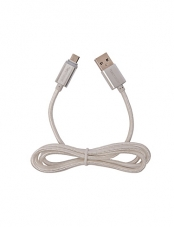 Cable Micro Usb 1M Led Silver Tecmaster