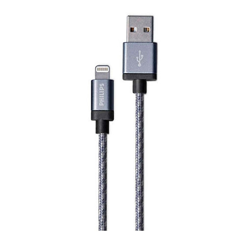 Cable Para Iphone 1.2 Mts Plata Philips
