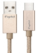 Cable Type-C a USB Braided Gold Fujitel