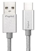 Cable Type-C a USB Braided Silver Fujitel