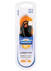 Cable USB a mini USB 5 PIN 2mts VCL4402 Bandridge