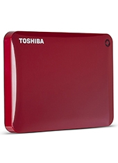 Disco Duro Canvio Connect II V8 1TB Rojo USB 3.0 TOSHIBA