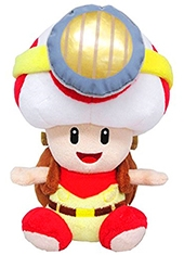 Peluche Super Mario Captain Toad Sitting 7""