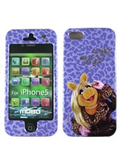 Carcasa iPhone 5 Mis Piggy Morado The Muppets