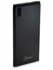 Cargador, charger, Powerbank, power bank, 10000mAh, 10.000mAh, Slim, Platinum, 2A. USB, Negro, black, Microlab