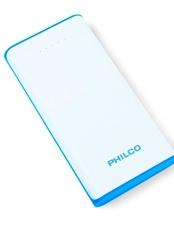 Cargador Powerbank 16000mAh 2.1A 2 USB Blanco Philco