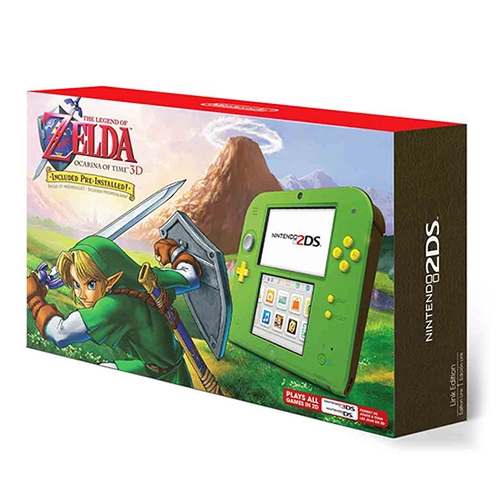 Consola Nintendo 2DS Green The Legend of Zelda Ocarina of Time
