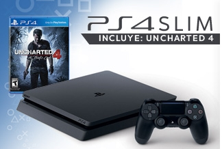 Consola PS4 Slim + Uncharted 4