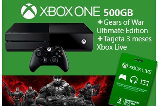 Consola Xbox One 500Gb Bundle Gears of War Ultimate Edition + Tarjeta Xbox Live Gold 3 Meses