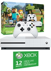 Consola Xbox One S 500GB Minecraft Bundle + Xbox Live 12 Meses