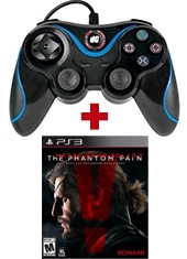 Control PS3 Orbiter DreamGEAR + Metal Gear Solid V The Phantom Pain PS3