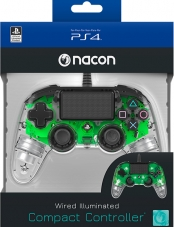 Control PS4 Wired illuminated Compact Green Nacon