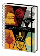 Cuaderno, Game, Of, Thrones, Houses,