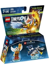 Figura LEGO Dimensions Chima Eris & Eagle Interceptor Fun Pack