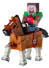 Figura Minecraft Steve with Chesnut Horse