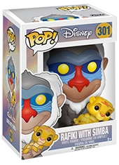 Funko POP! The Lion King Rafiki With Baby Simba