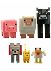 Figuras Minecraft Animales 6 pack