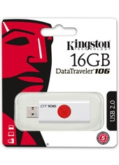 Pendrive DT106 Retráctil Rojo 16Gb Kingston