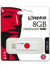 Pendrive DT106 Retráctil Rojo 8Gb Kingston