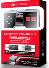 Gamepad Combo Kit NES Classic Control Inalambrico + Cable 3M My Arcade